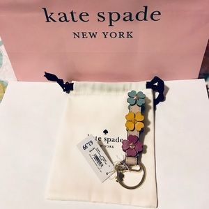 Kate Spade key fob keychain with clasp & key ring
